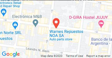 Warnes Repuestos NOA S.A., J.M. Gorriti 596 Ciudad de San Salvador de Jujuy